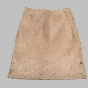 KATE HILL 100% LEATHER SKIRT